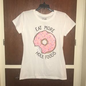 """""""Eat More Hole Foods"""" Donut Tee Shirt"""